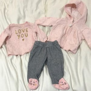 Baby girl sweatsuit outfit